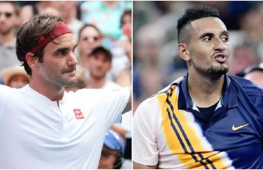 Roger Federer y Nick Kyrgios.