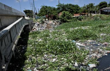 Este panorama es frecuente en el Caño de la Auyama, en la calle 6, según vecinos de Villa Nueva.