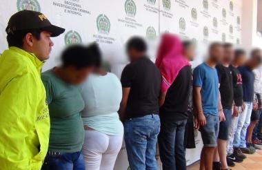 Vista de algunos de los detenidos.