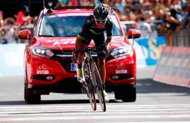 Nairo Quintana, ciclista colombiano del Movistar.