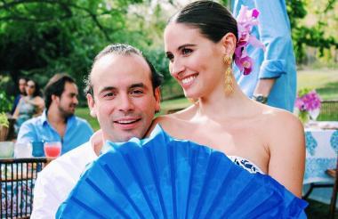 Taliana Vargas junto a su esposo Alejandro Éder.
