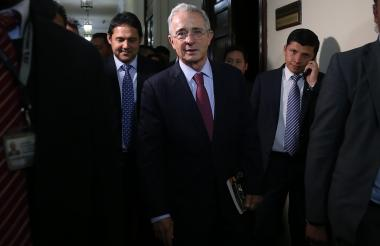 El expresidente y actual senador Álvaro Uribe Vélez.