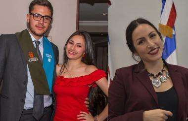 Las víctimas: Juan Esteban Sedano López, Daniela Meléndez Lozano e Irlanda Meléndez Lozano.