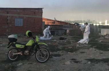 Sector de 'El Caguán', en el barrio Las Flores, donde se registró el crimen.