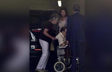 Eduardo Vela, llegando a la corte provisional en Madrid, tras ser acusado.