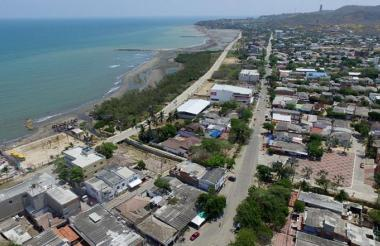 Panorámica aérea del municipio de Puerto Colombia.