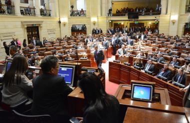 Sesión del debate en el Congreso sobre los recursos de la Nación para el 2019.