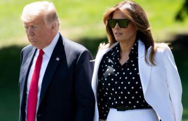 Donald Trump y su esposa Melania Trump.