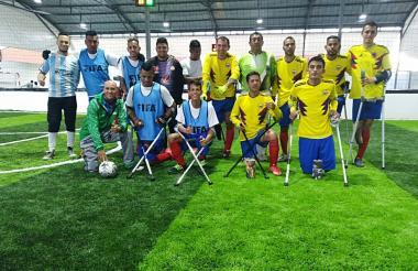 Esta es la Selección Colombia de amputados.