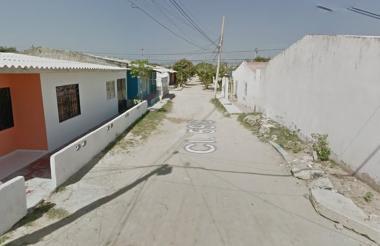 Calle 60A con carrera 7 del barrio Los Cusules, lugar del ataque a bala.