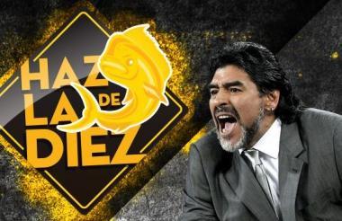 Imagen con la que el club mexicano le da la bienvenida a Maradona.