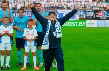 Diego Armando Maradona. nuevo técnico del equipo de fútbol de Sinaloa.