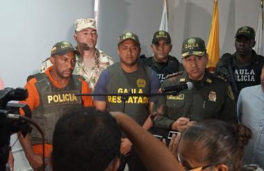 Los ciudadanos rescatados.