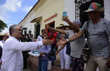 Duque saluda a habitantes de Antioquia, donde se desarrolló el Taller Construyendo País.