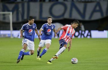 Pasaje del encuentro entre Junior y Millonarios en Bogotá.