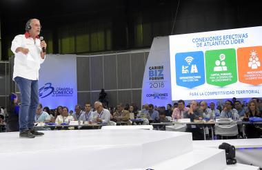 El gobernador del Atlántico, Eduardo Verano, interviene en Caribe Biz 2018.