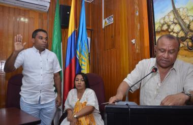 Maestre se posesionó en el Concejo Distrital en Riohacha.