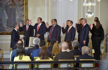 El presidente Duque posesionó este martes al viceministro de Ordenamiento y los directivos del Sena, Ideam, La Previsora, Imprenta Nacional y Supersolidaria.