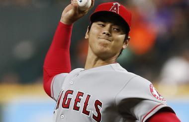 Ohtani, de 24 años, en su faceta como lanzador.