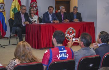 La Universidad Libre presentó ayer ante parte de sus estudiantes la alianza estratégica con el Levante.