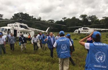 Observadores de la ONU.