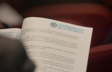 Vista de uno de los proyectos anticorrupción.