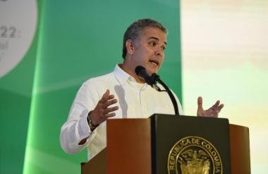 Iván Duque en la instalación del Congreso de Confecámaras en Cartagena.