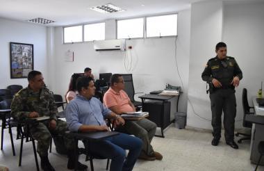 Aspecto del Consejo de Seguridad y Comité de Orden Público en Malambo.