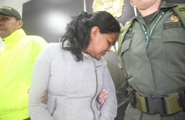 Edilia Vargas fue capturada en el aeropuerto de Pereira.