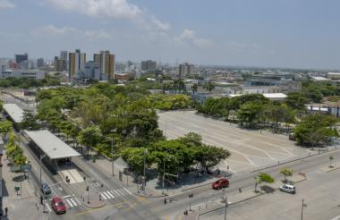 Vista actual de la Plaza de la Paz.