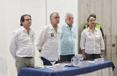 De izq a der: Rodolfo Zea, Eduardo Verano, Joao Herrera y Cecilia Arango.