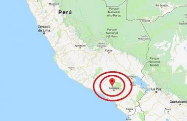 El sismo tuvo una profundidad de 122 km.