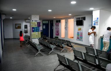 Sala de espera de la ESE Hospital José Gómez Heredia de Baranoa.