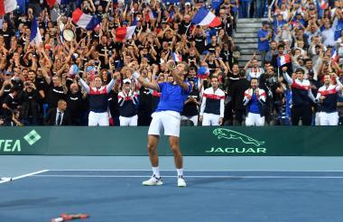 Francia celebra tras el paso a la gran final.