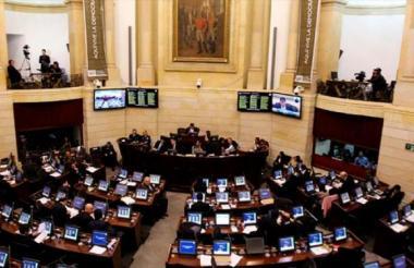 La plenaria del Congreso de la República.