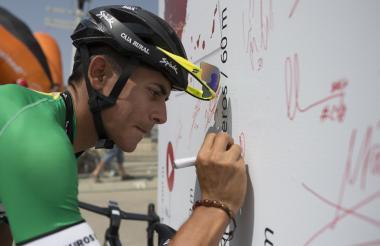 El ciclista Nelson Soto en la Vuelta a España.