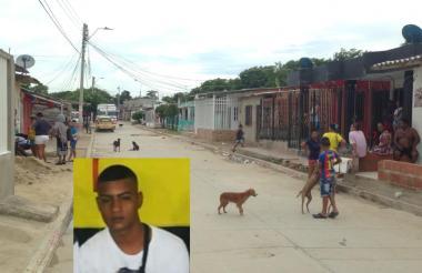 En esta cuadra ocurrió el homicidio. En el recuadro Brayan Enrique Amaya García, asesinado.