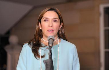 María Fernanda Suárez, ministra de Minas.