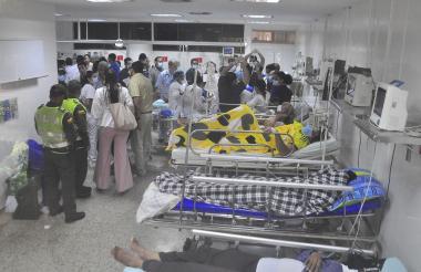 Los afectados fueron atendidos en diferentes centros de salud de Valledupar.