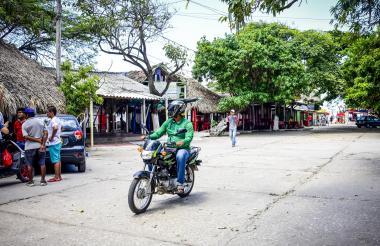 Sector de las casetas que conecta con el viejo muelle de Puerto Colombia.