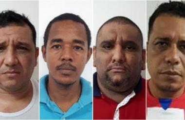 Los señalados miembros de la banda delincuencial 'los Toches'.