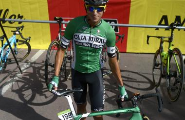 El ciclista Nelson Soto.