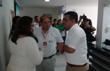 Funcionarios de Salud en la ESE Hospital de Baranoa.