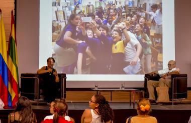Irene Vasco y Antonio Rodríguez en el evento.
