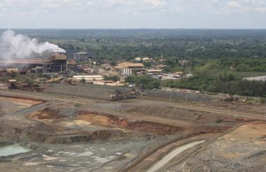 Vista de la mina Cerro Matoso, en la que se realiza extracción de Níquel.