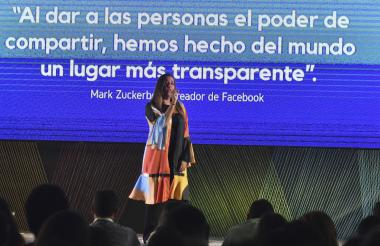 Diana Acosta durante su intervención.