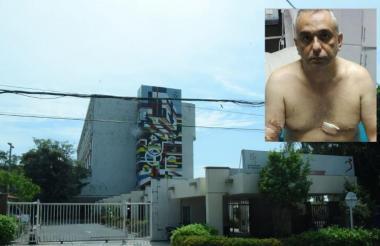 Helí Geovo Chamunt, ex jefe de policía venezolano, en una camilla del Cari.