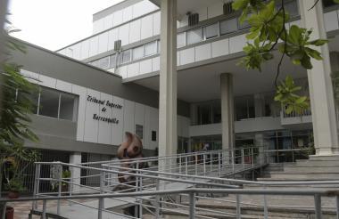 Panorámica del Tribunal Superior de Barranquilla ubicado en el centro de la capital del Atlántico.