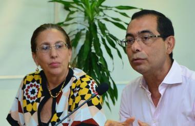 Patricia Martínez y José Consuegra.