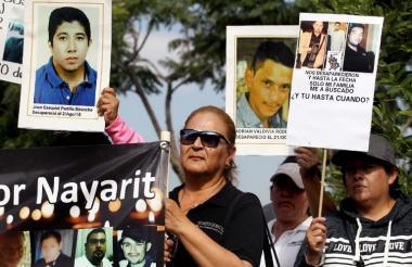 Caminata de familiares de desaparecidos en Sinaloa.